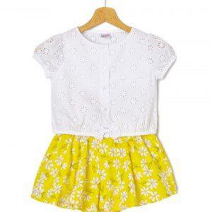 Σετ T-Shirt Sangallo και Σορτσάκι Popeline Μεγ.8-9/9-10 Ετών για Κορίτσι