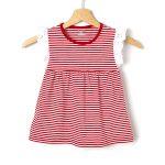T-Shirt Βαμβακερό Ριγέ Κόκκινο με Λεπτομέρειες Δαντέλας για Κορίτσι