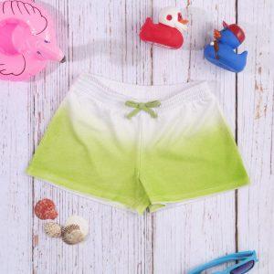 Σορτσάκι Jersey Basic Πράσινο Σκιασμένο για Κορίτσι