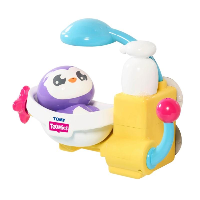 TOMY Toomies Peryns Shower And Scrub Παιχνίδι Μπάνιου Πιγκουΐνος Στο Μπάνιο 1000-72610