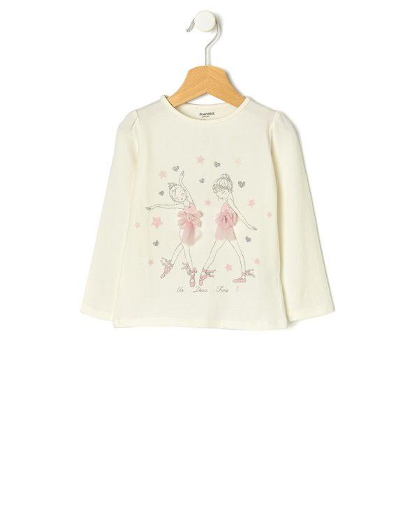 Μπλούζα με Μπαλαρίνες για Κορίτσι