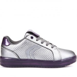 Sneakers Geox J Kommodor Girl Ασημί για Κορίτσι