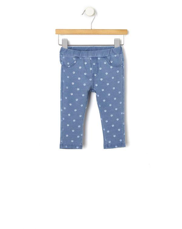 Παντελόνι Jeggings Μπλε με Στάμπα για Κορίτσι