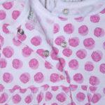 Φορμάκι Κοντό Jersey Ροζ με Πουά για Κορίτσι