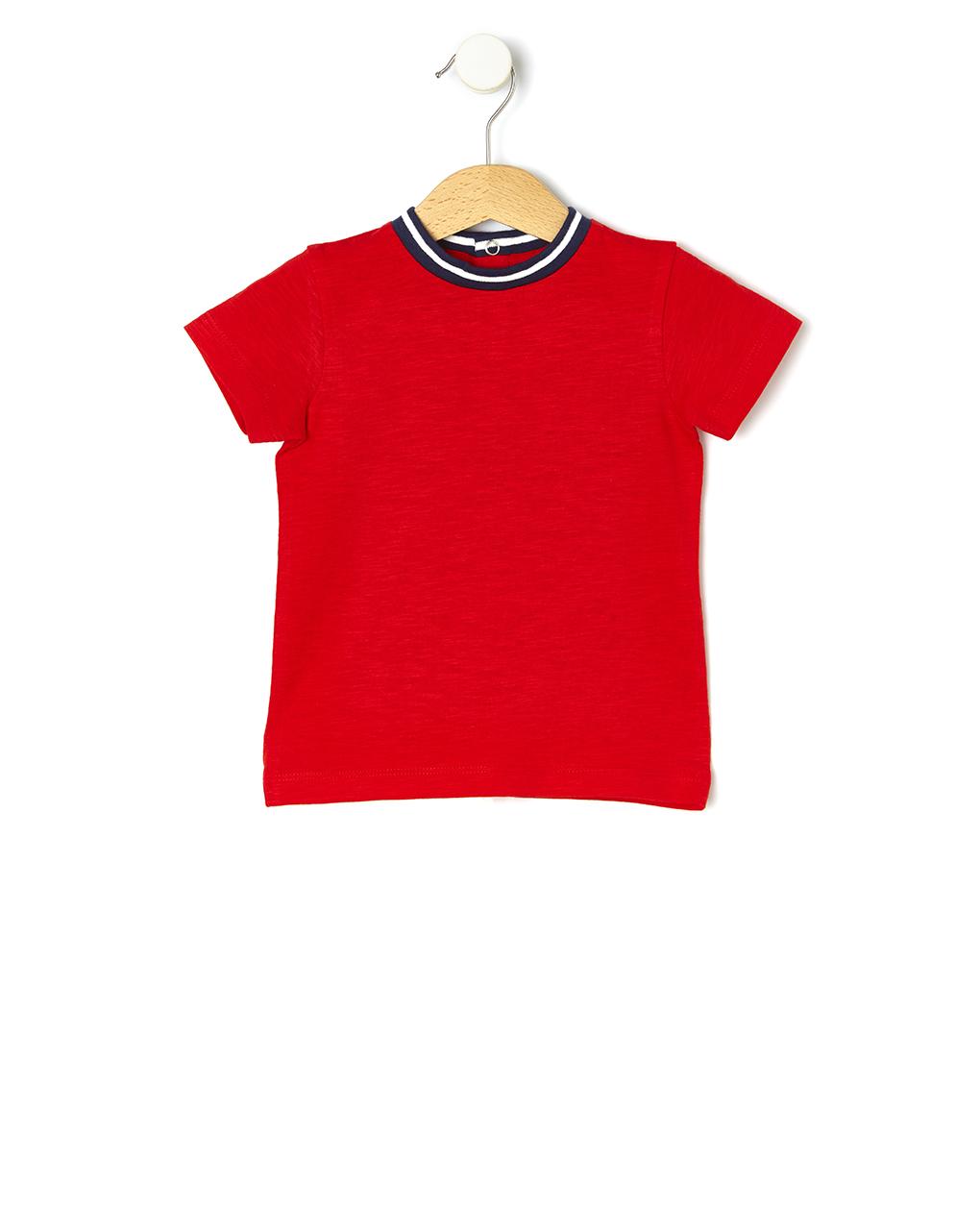 T-shirt Βαμβακερό Κόκκινο για Αγόρι