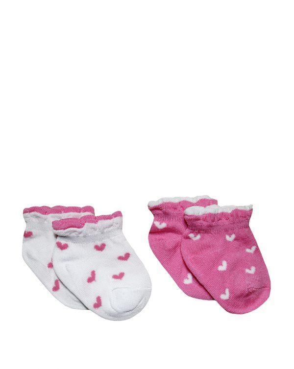Κάλτσες με Καρδούλες Πακέτο Χ2 για Κορίτσι
