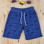 Βερμούδα Μπλε με Αυτοκινητάκια για Αγόρι