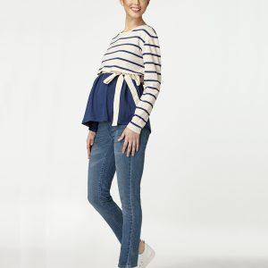 Γυναικεία Μπλούζα Θηλασμού με Ρίγες