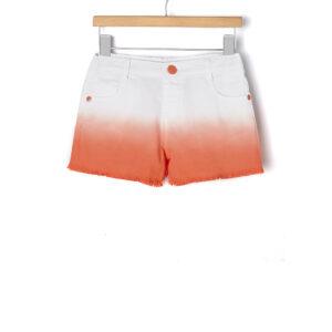 Σορτς Λευκό Πορτοκαλί Ντεγκραντέ για Κορίτσι