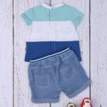 Σετ T-shirt Σορτς με Ζώα της Θάλασσας για Αγόρι