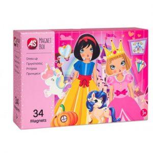 AS  Magnet Box  - Πριγκίπισσες Dressu Up 1029-64038