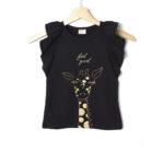 Αμάνικο Μπλουζάκι Jersey με Καμηλοπάρδαλη για Κορίτσι