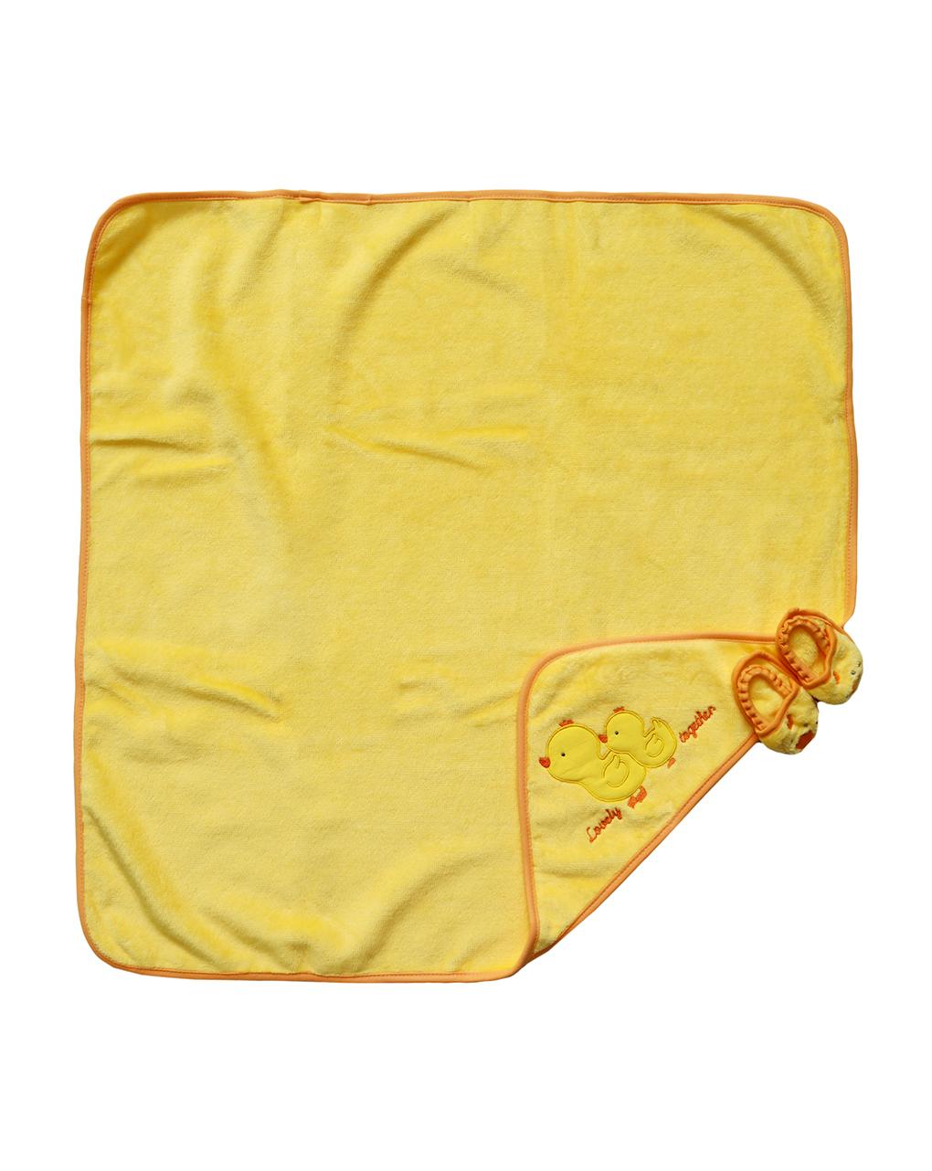 Μπουρνούζι Κοτοπουλάκι με Παντοφλίτσες