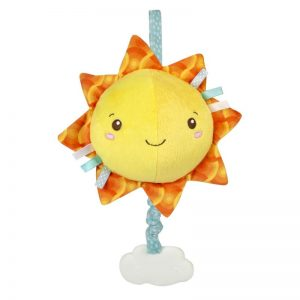 Baby Clementoni Soft Sun Βρεφικό Μουσικό Χνουδωτό Κρεμαστό Ήλιος 1000-17270