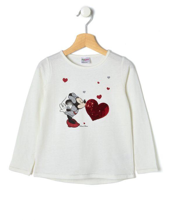 T-shirt Εκρού με Στάμπα Minnie