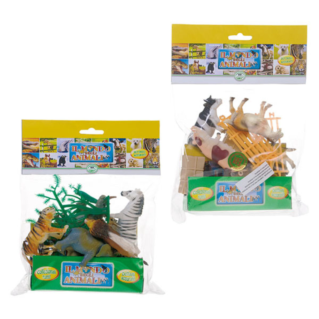 Animal world Σακούλα Μικρή με 10 Ζωάκια Φάρμας