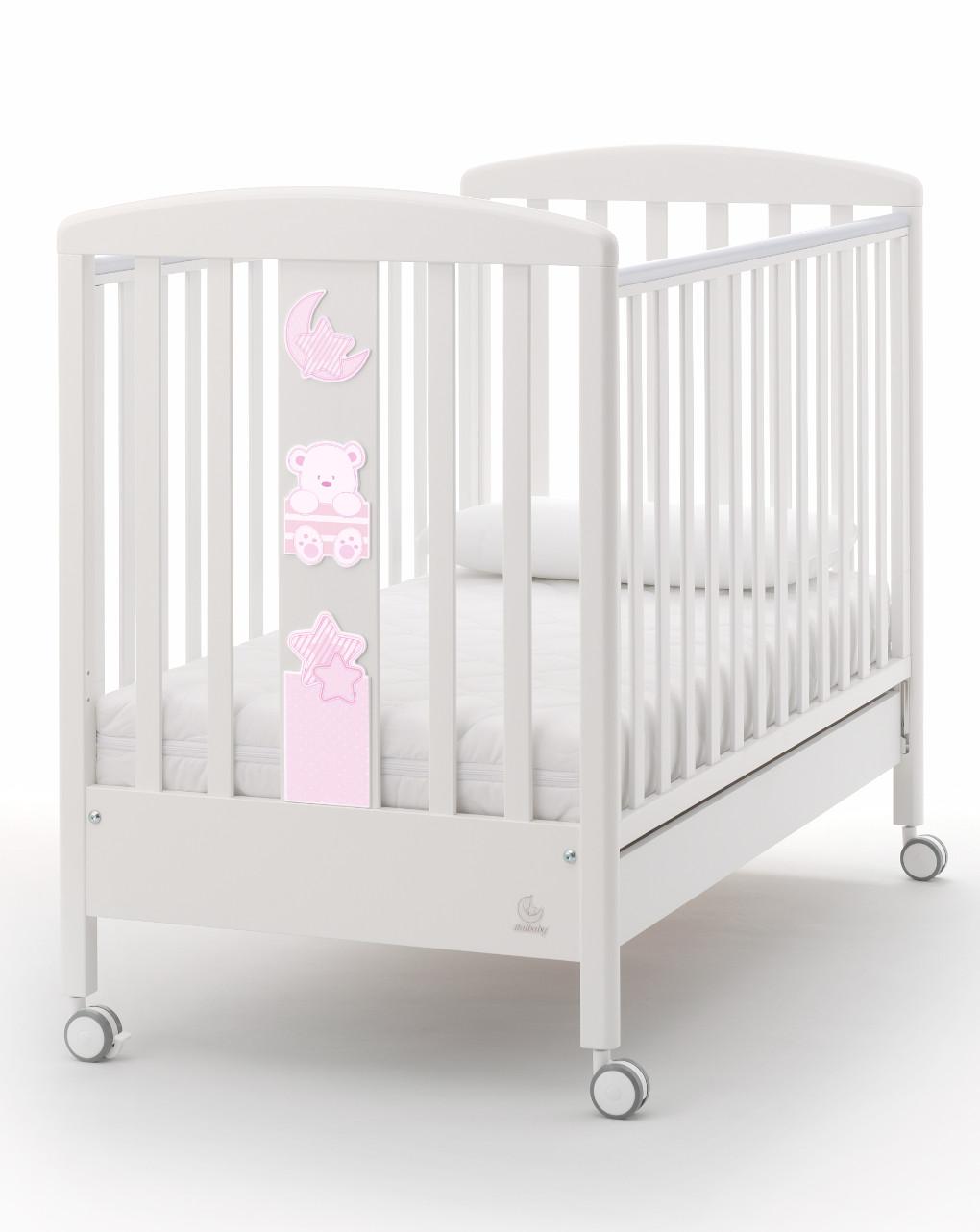 Italbaby Κούνια My Teddy Ροζ 130x70x103 cm