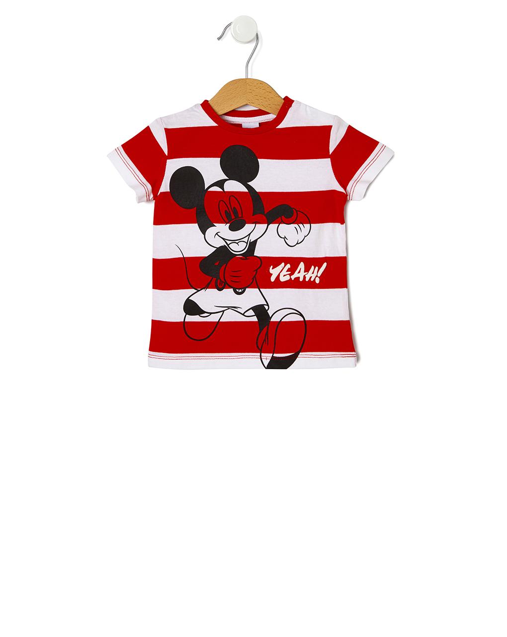 T-shirt με Στάμπα Mickey Mouse για Αγόρι