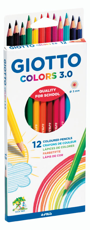GIOTTO Ξυλομπογιές Giotto Colors 3.0 blister 12 τμχ 000276600