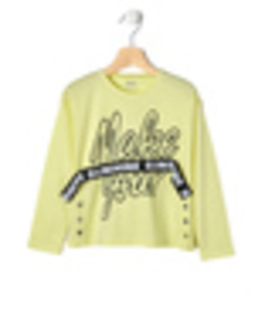 T-shirt Jersey με Κορδέλα Μεγ.8-9/9-10 ετών για Κορίτσι
