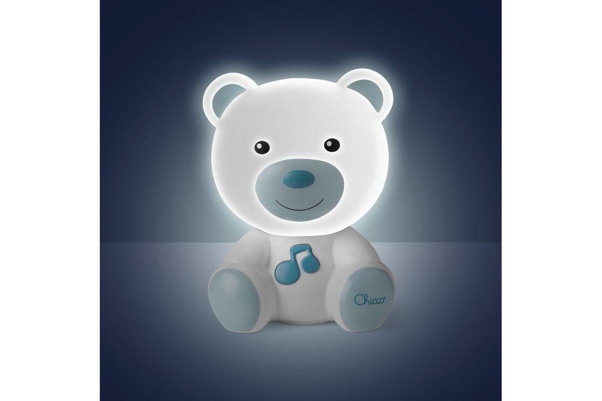 Chicco  Αρκουδακι Φωτάκι Νύκτος με Μελωδία Μπλε 9830200000