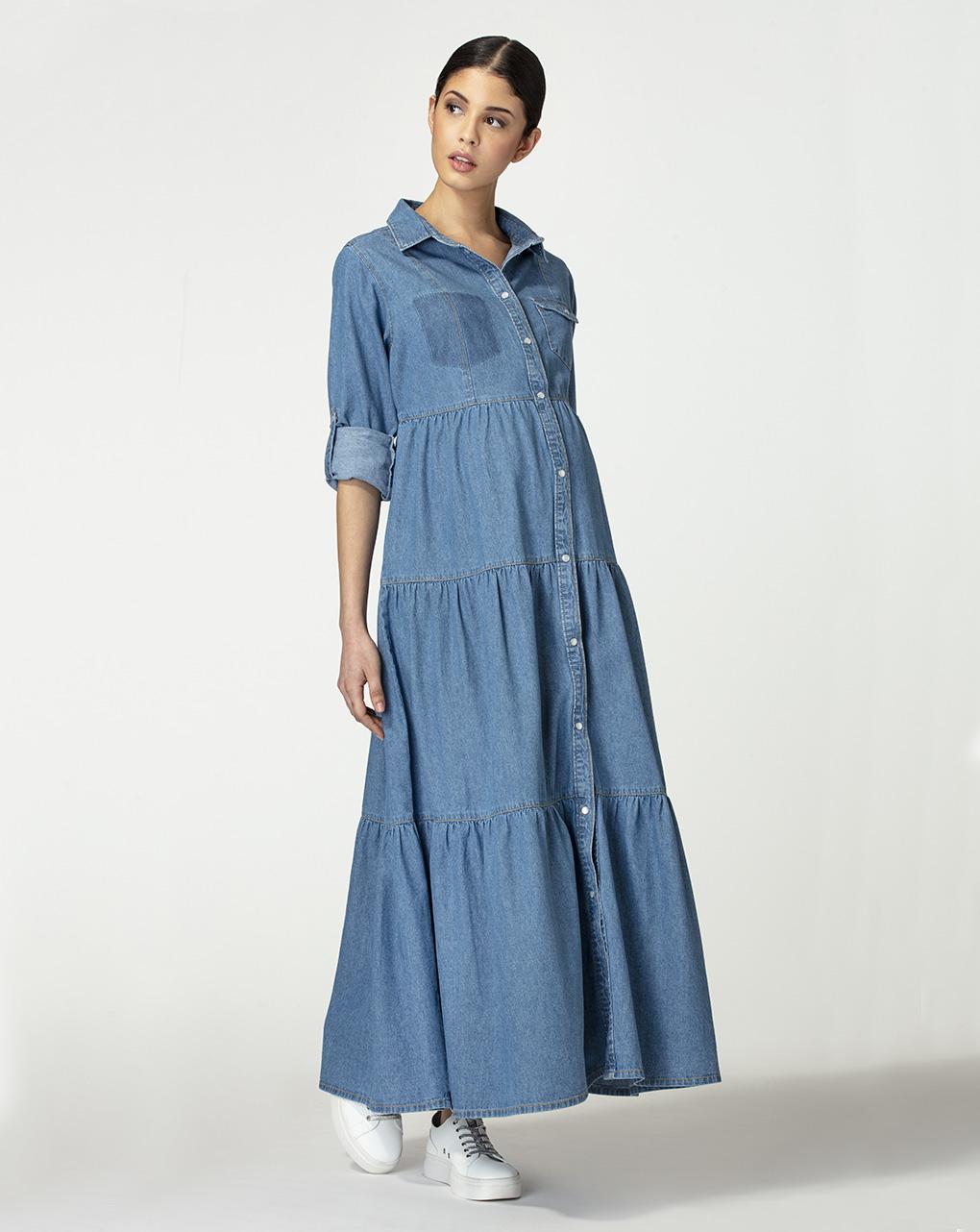Γυναικείο Φόρεμα Denim Maxi