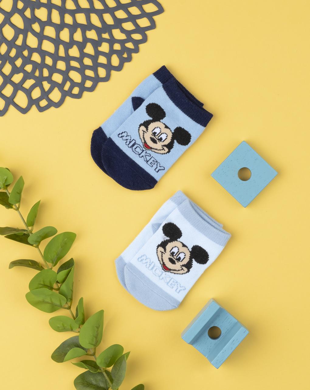 Καλτσάκια Κοντά πακέτο x2 Mickey για Αγόρι