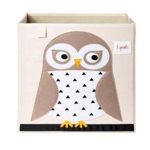 3Sprouts Κουτί Αποθήκευσης- Owl