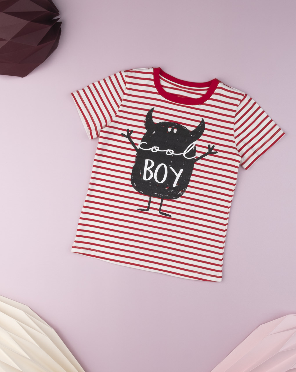 T-shirt Jersey Ριγέ για Αγόρι