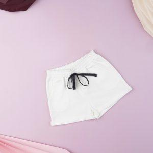 Σορτς Βαμβακερό Λευκό για Κορίτσι