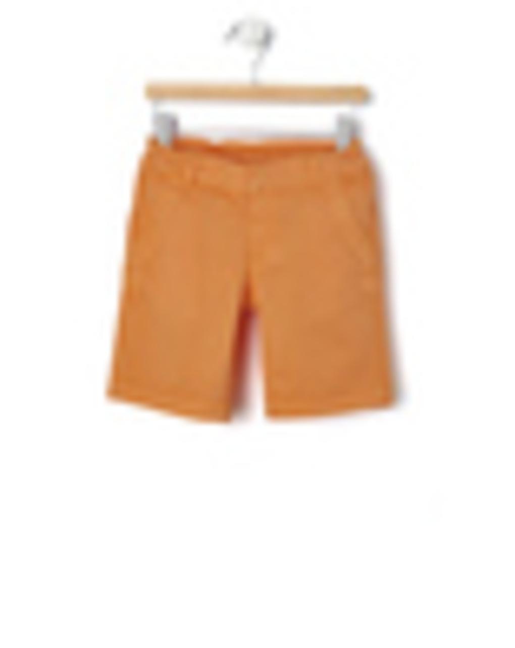 Βερμούδα Twill Πορτοκαλί με Ρεβέρ Μεγ.8-9/9-10 ετών για Αγόρι