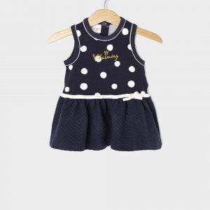 Αμάνικο φόρεμα Πουά Μπλε για Κορίτσι