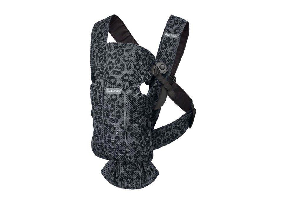 BabyBjorn Μάρσιπος Mini Leopard Anthracite 3D Mesh