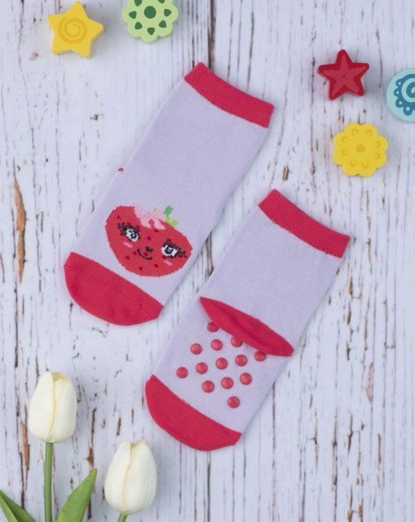 Κάλτσες Αντιολισθητικές με Φρούτα για Κορίτσι