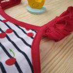 Φορμάκι Jersey Ριγέ Εμπριμέ με Κεράσια για Κορίτσι