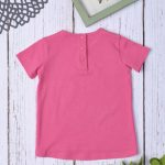 T-Shirt Jersey Φούξια με Παγιέτες για Κορίτσι