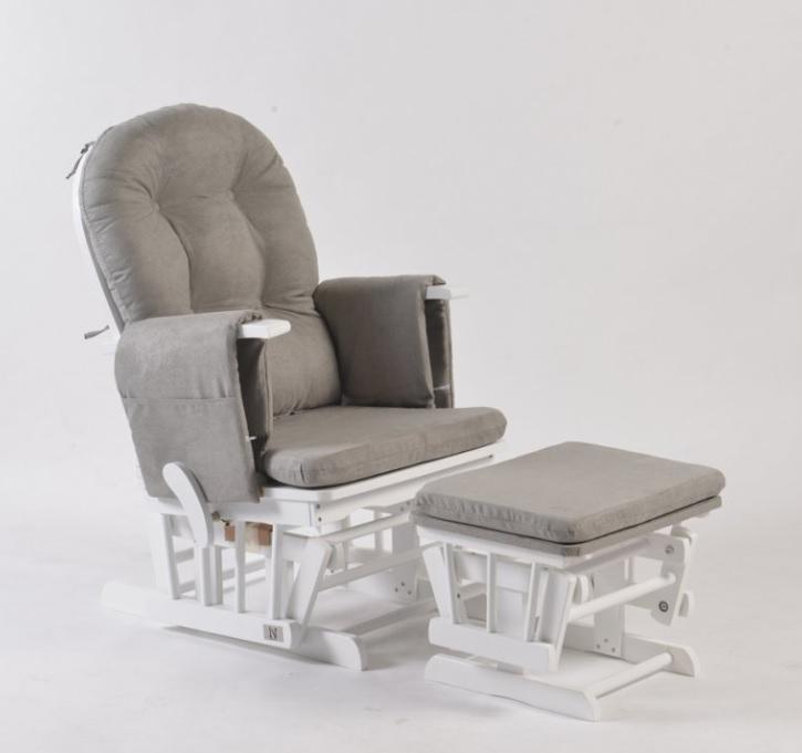 Κουνιστή ξύλινη πολυθρόνα θηλασμού White
