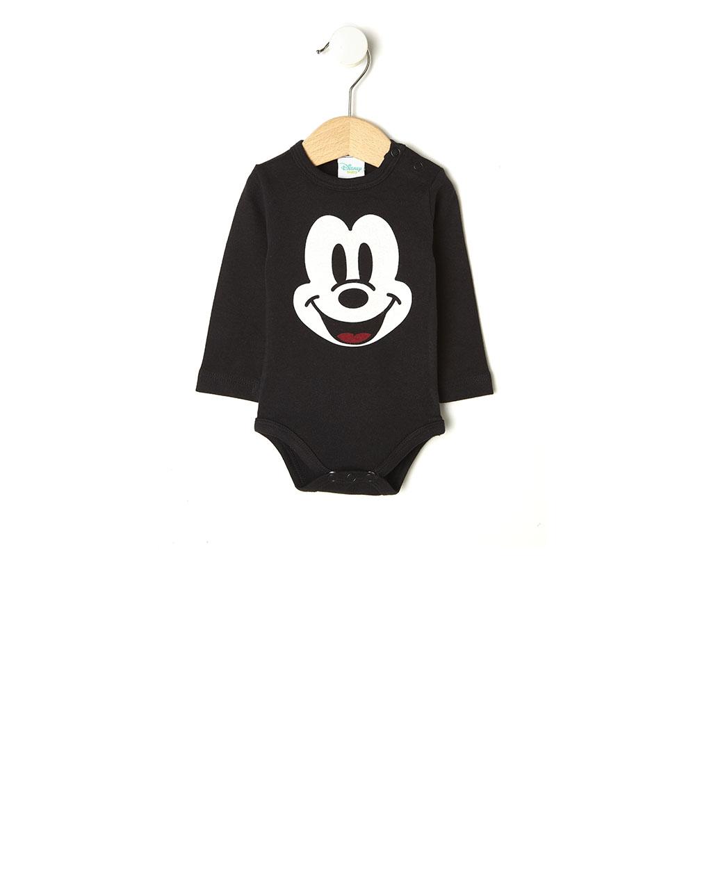 Κορμάκι Interlock Μαύρο με τον Mickey Mouse για Αγόρι