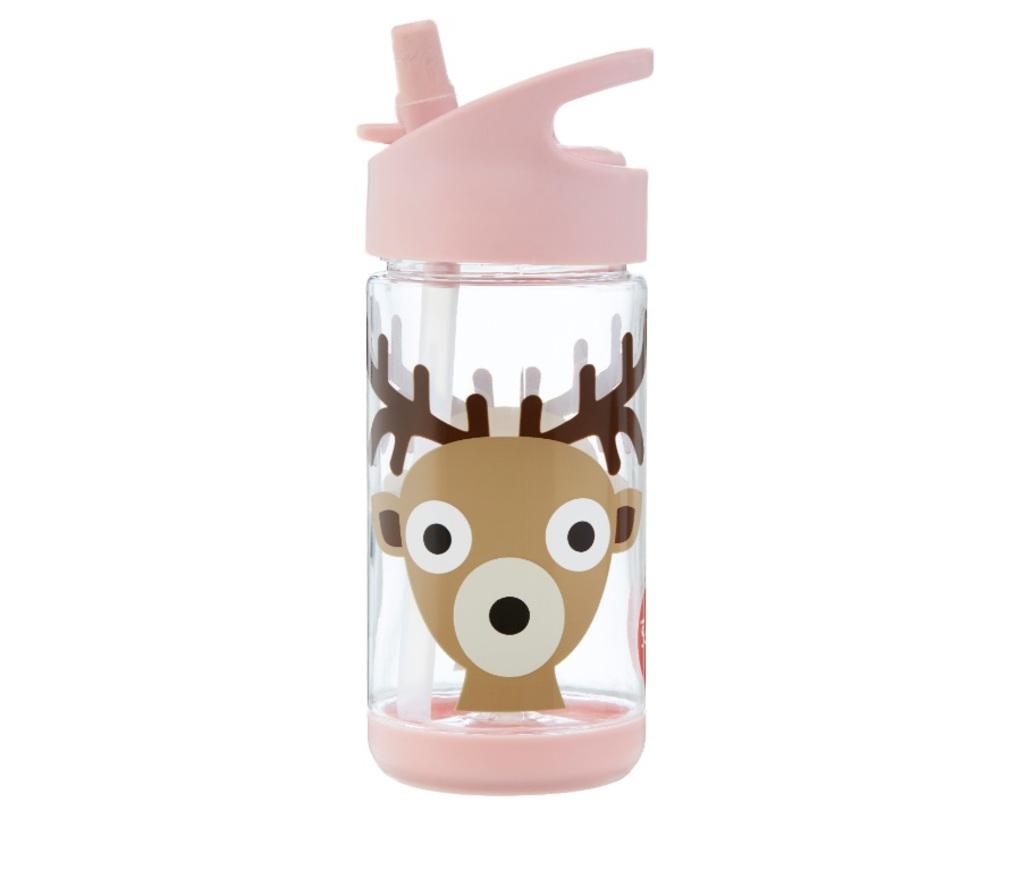 3Sprouts Παγούρι Με Καλαμάκι- Deer