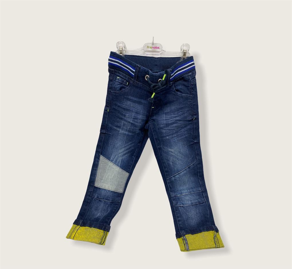 Παντελόνι Denim με Πλεκτό Ύφασμα στη μέση για Αγόρι