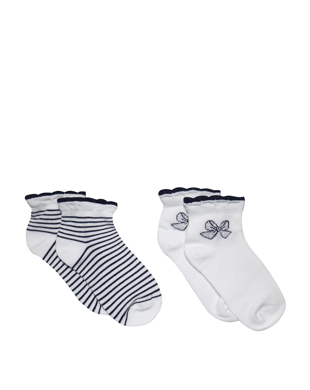 Κάλτσες Κοντές Ριγέ Πακέτο Χ2 για Κορίτσι