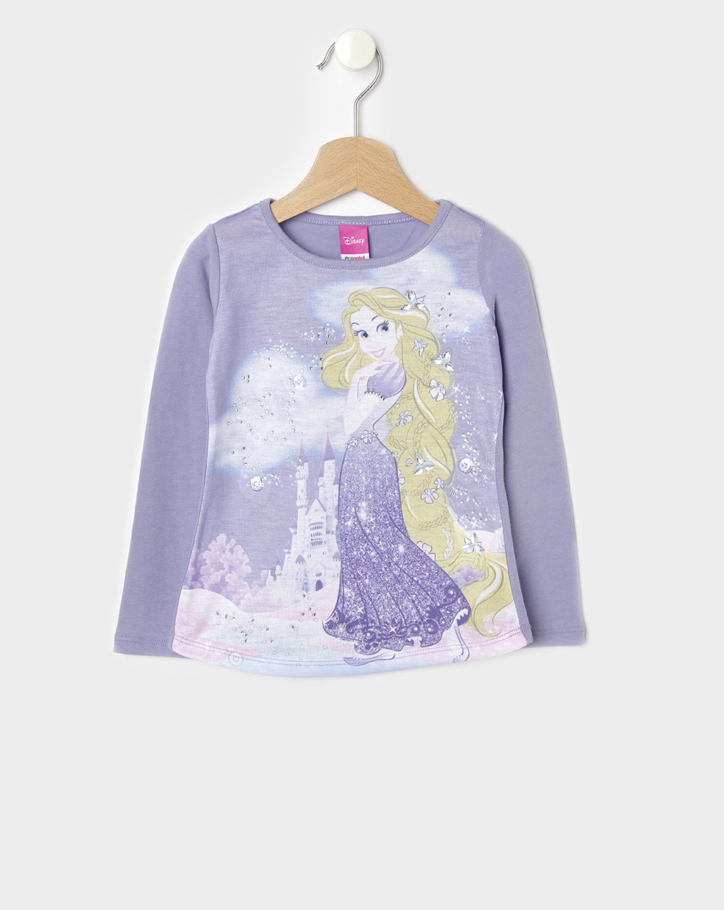 T-shirt Λιλά Rapunzel για Κορίτσι