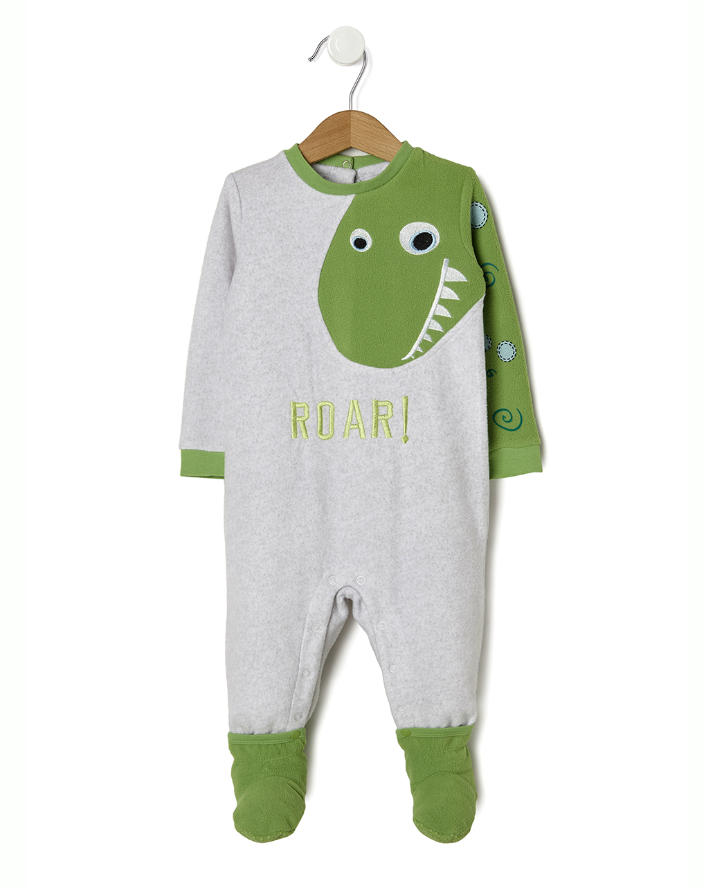 Πιτζαμάκι Fleece για Αγόρι με Πράσινο Δεινόσαυρο