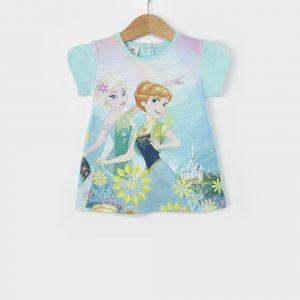 T-Shirt Jersey Γαλάζιο με Στάμπα Frozen για Κορίτσι
