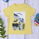 T-shirt Κίτρινο με Στάμπα για Αγόρι
