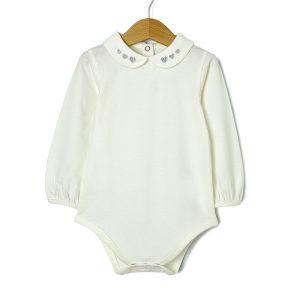 Body Μακρυμάνικο Jersey Λευκό για Κορίτσι