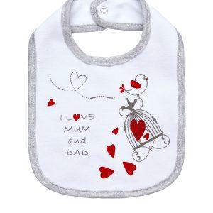 Σαλιάρα I Love Mum and Dad Unisex