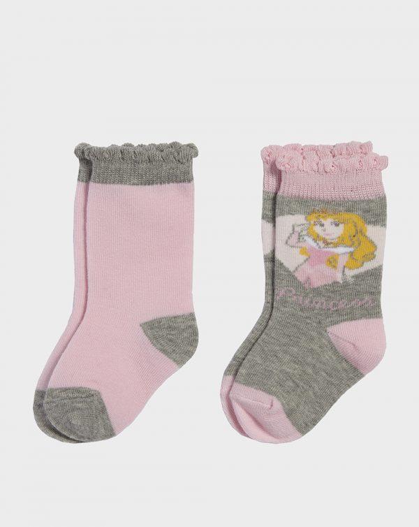 Κάλτσες Πακέτο Χ2 Πριγκίπισσες της Disney για Κορίτσι