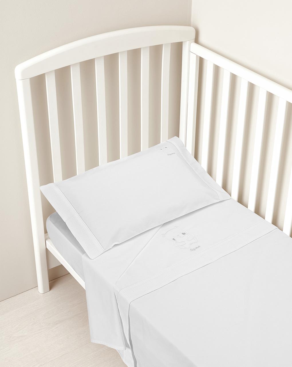 Prenatal Σετ για κρεβάτι 3 τεμ. Λευκό 20×60×135 εκ.