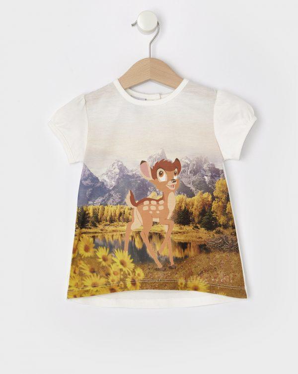 T-Shirt με Στάμπα Bambi για Κορίτσι